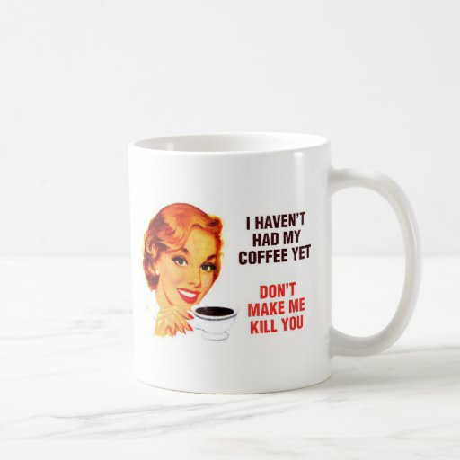 Killer Coffee Bad Girl Basic White Mug