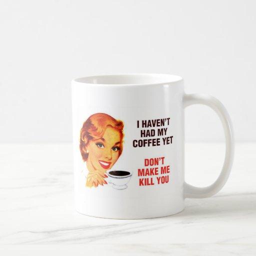 Killer Coffee Bad Girl Classic White Coffee Mug