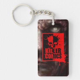 Killer Comics Blood Splatter Logo Key ring Double-Sided Rectangular Acrylic Keychain