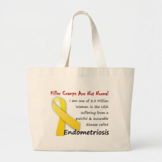Killer Cramps are Not Normal! Large Tote Bag