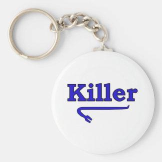 killer crowbar basic round button keychain