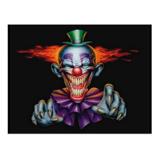 Killer Evil Clown Postcard