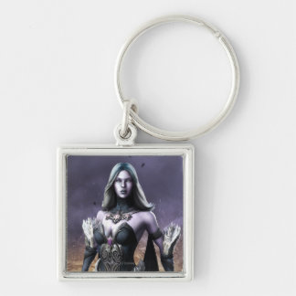 Killer Frost Silver-Colored Square Keychain