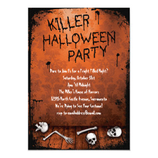 Killer Halloween Party with Skulls Card