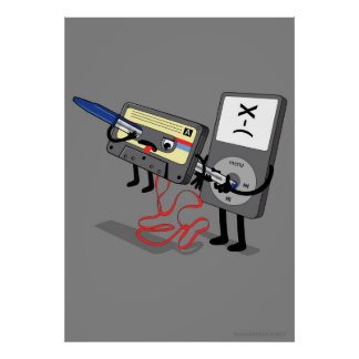 Killer Ipod Clipart (Retro Floppy Disk Cassette) Poster