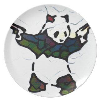 Killer Panda Dinner Plates