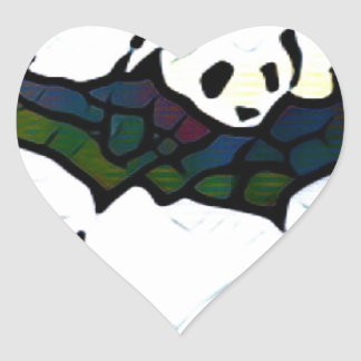 Killer Panda Heart Sticker