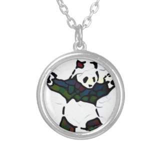 Killer Panda Silver Plated Necklace