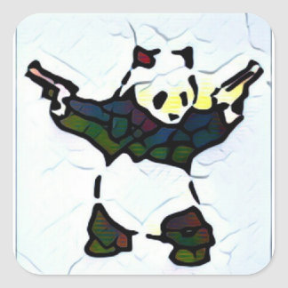 Killer Panda Square Sticker