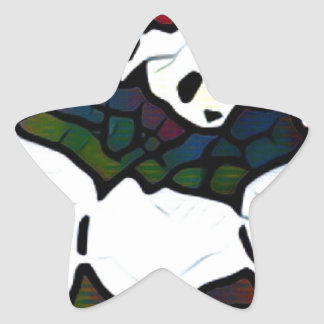 Killer Panda Star Sticker