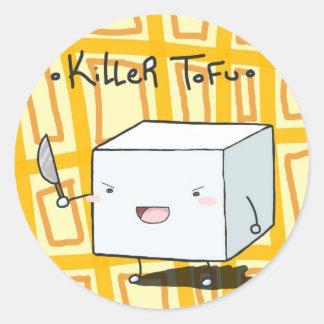 Killer_Tofu_by_Kirillee.jpg Round Sticker