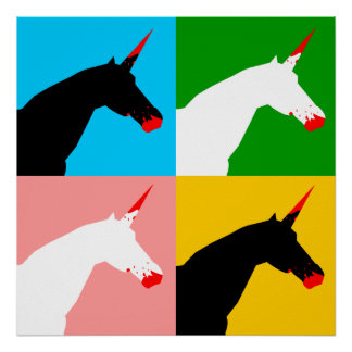 Killer Unicorn (Art Print) Poster