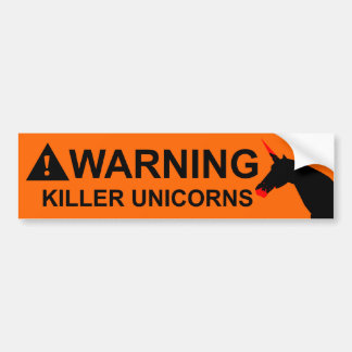 Killer Unicorns Bumper Sticker