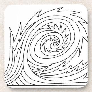 Killer Wave DIY Coloring Doodle gifts Drink Coasters
