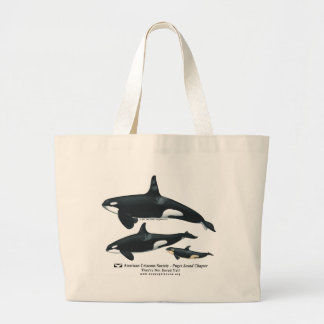 Killer Whale Family Beach Bag