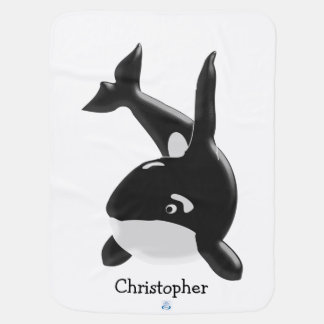 Killer Whale Just Add Name Baby Blanket