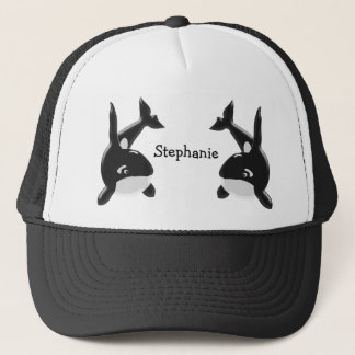 Killer Whale Just Add Name Trucker Hat
