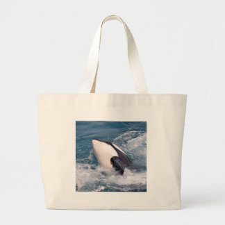 Killer whale large tote bag