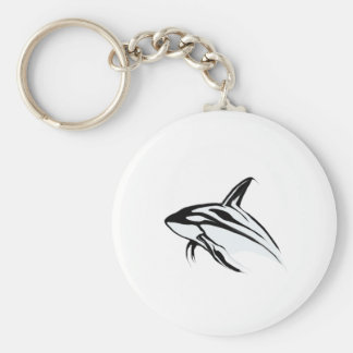 Killer Whale Leaping Collection Basic Round Button Keychain