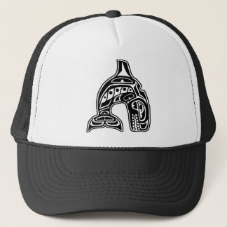 Killer Whale Native American Design Trucker Hat
