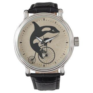 Killer Whale on Vintage Bike Watch