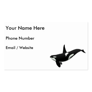 Killer Whale, Orcinus Orca Business Cards