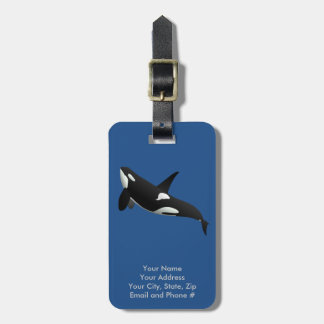 Killer Whale, Orcinus Orca Luggage Tag