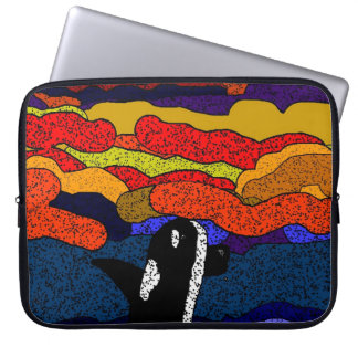 Killer whale sunset magic laptop sleeve