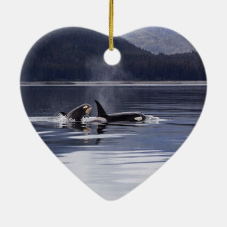 Killer Whales Ceramic Ornament