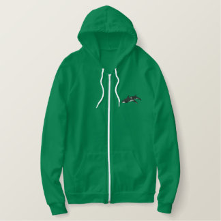Killer Whales Embroidered Hoodie