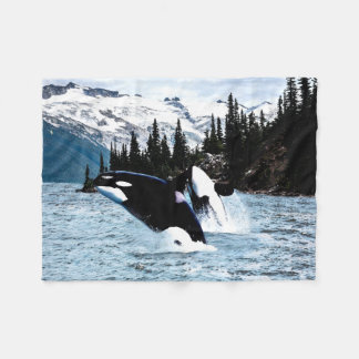 Killer Whales Fleece Blanket