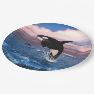 Killer Whales In The Arctic Ocean Paper Plate