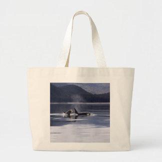 Killer Whales Large Tote Bag