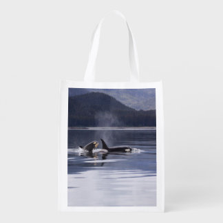 Killer Whales Reusable Grocery Bag
