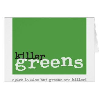 killergreens-logo square 150.png greeting card
