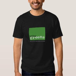 killergreens-logo square dark t shirts