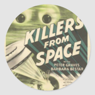 Killers from Space Classic Round Sticker