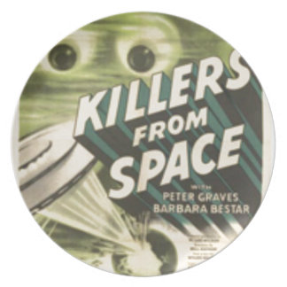 Killers from Space Dinner Plates