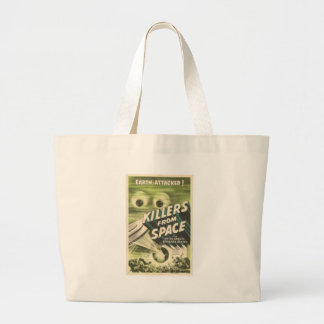 Killers from Space Large Tote Bag