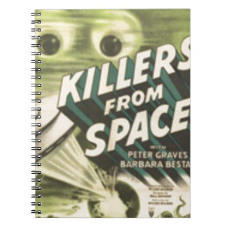 Killers from Space Spiral Note Book