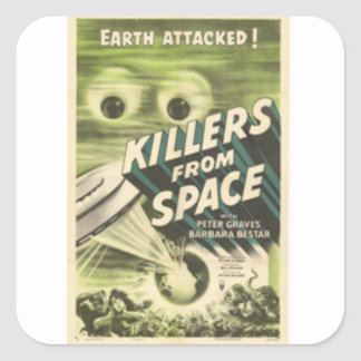 Killers from Space Square Sticker