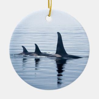 Killerwhale of Vancouver Island Round Ceramic Ornament