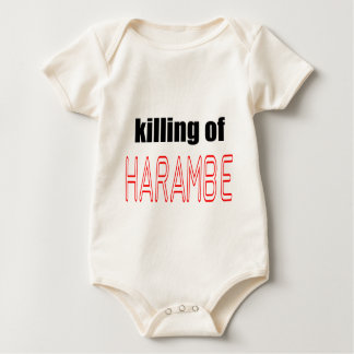 KILLING HARAMBE MEMORIAL SERVICE harambeismad inno Baby Bodysuit