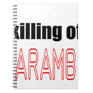 KILLING HARAMBE MEMORIAL SERVICE harambeismad inno Notebook