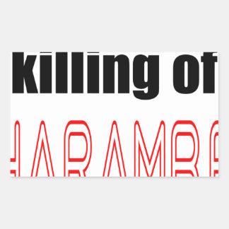 KILLING HARAMBE MEMORIAL SERVICE harambeismad inno Sticker