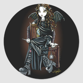 """Killing Time"" Gothic School Girl Fairy Stickers"