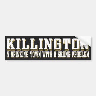 Killington Drinking & Skiing Sticker Bumper Sticker