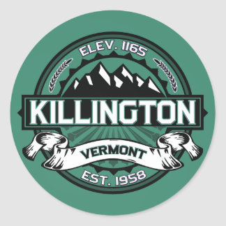 Killington Stickers Vermont Green