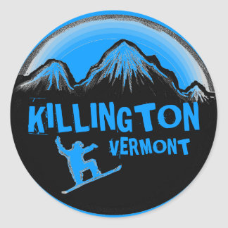 Killington Vermont blue snowboarder stickers