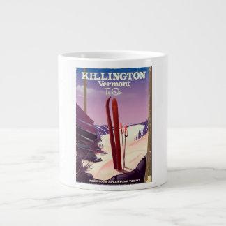 Killington, Vermont Ski travel print. Large Coffee Mug